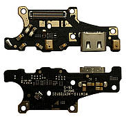 Нижняя плата Huawei Mate 10 ALP L09  с конектором зарядки + микрофон + компоненты