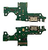 Нижняя плата Huawei Y8p (2020) с конектором зарядки + микрофон + компоненты