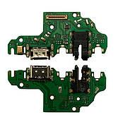 Нижняя плата Huawei P40 lite (2020) с конектором зарядки + микрофон + компоненты
