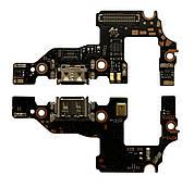 Нижняя плата Huawei P10 (2017) с конектором зарядки + микрофон + компоненты
