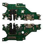 Нижня плата Huawei P Smart Plus / Nova 3i з конектором зарядки + мікрофон + компоненти