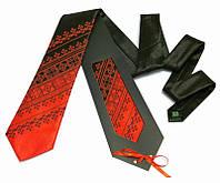 Галстук с вышивкой Красно-черный дуэт (Галстуки с вышивкой)