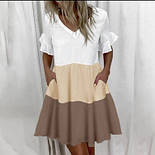 """Трехцветное летнее платье с карманами """"Megan"""", фото 4"""