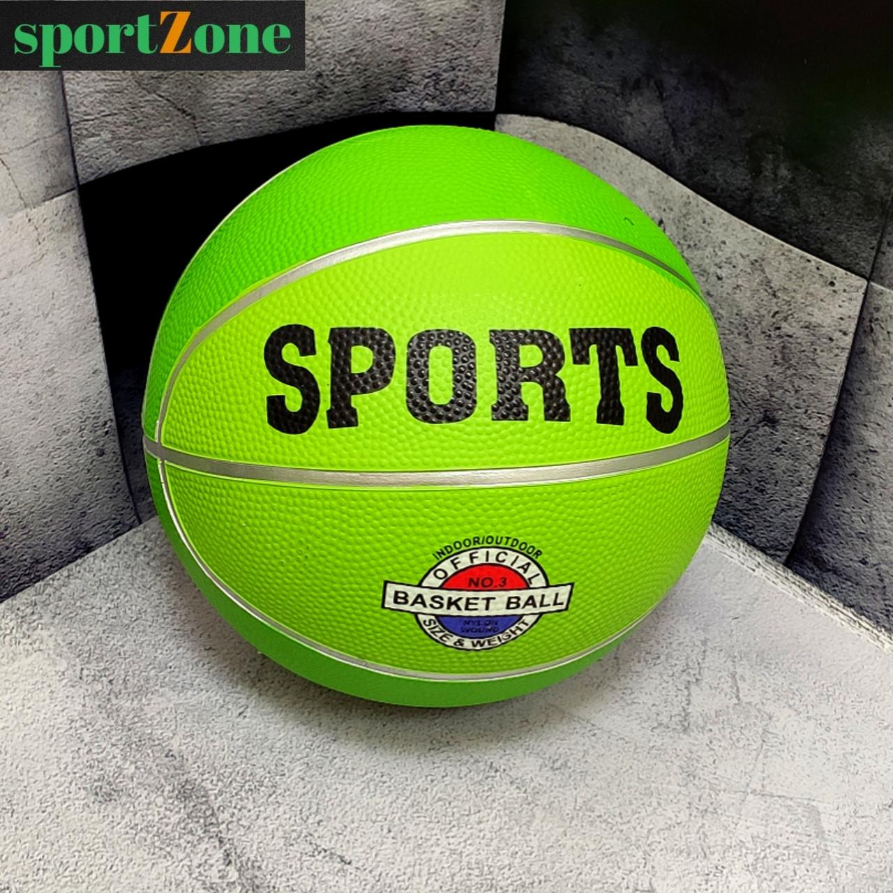 Мяч баскетбольный №3 резиновый