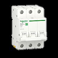 Автоматичний вимикач Schneider Electric 25А, 3P, С, 6кА (R9F12325), фото 1