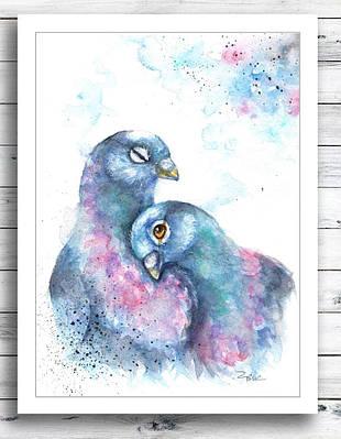 Плакат Pigeons формат А3
