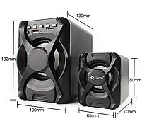 Колонки Kisonli U-2500BT з сабвуфером і пультом для пк акустичні комп'ютерні USB колонки акустика 2.1, фото 4
