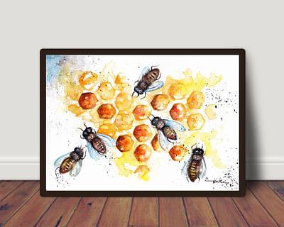 Плакат Бджоли формат А3