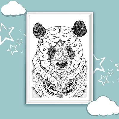 Плакат Panda art формат А3