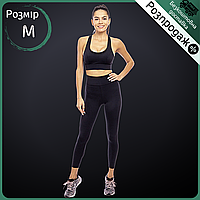 Распродажа! Комплект спортивный для фитнеса и йоги костюм Лосины и топ V&X Черный (WX046-CK055) M
