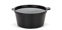 Соусник одноразовый с крышкой для соуса и крема черные 50 мл 75 шт