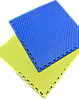 Татамі IZOLON EVA SPORT 100х100х3см, УЦІНКА синьо-жовтий з бортиком