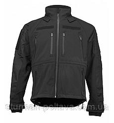 Куртка мужская  тактическая Soft Shell  PLUS  професионал  демисезонная цвет чёрный Mil-Tec Германия