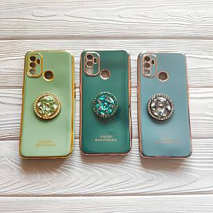 Чехол Ring Stones для Oppo A53 силиконовый бампер (разные цвета )