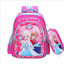 Школьный рюкзак Эльза и Анна для первоклассницы с пеналом для 1-4 класса