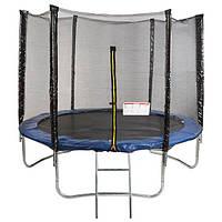 Батут с сеткой защитной для детей и взрослых лестница в комплек не входитWorldSport 183смЧерный (28765-3)