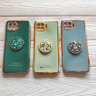 Чехол Ring Stones для Oppo Reno 4 Lite силиконовый бампер (разные цвета )