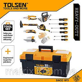 Набор инструмента бытовой, 26 предметов в ящике  TOLSEN