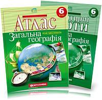 Атлас и контурная карта 6 класс Общая география Картография