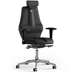 Кресло KULIK SYSTEM NANO Экокожа с подголовником без строчки Черный 16-901-BS-MC-0201 ZZ, КОД: 1668761