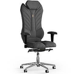 Кресло KULIK SYSTEM MONARCH Ткань с подголовником со строчкой Серый 2-901-WS-MC-0506 ZZ, КОД: 1668916
