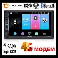 Автомагнитола 2 din android 4G модем 2gb 4-ядра GPS Wifi Bluetooth Cyclone mp-7093A