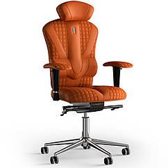 Кресло KULIK SYSTEM VICTORY Экокожа с подголовником со строчкой Оранжевый 8-901-WS-MC-0210 ZZ, КОД: 1668993