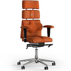 Кресло KULIK SYSTEM PYRAMID Ткань с подголовником со строчкой Оранжевый 9-901-WS-MC-0510 ZZ, КОД: 1669086