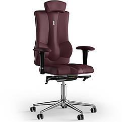 Кресло KULIK SYSTEM ELEGANCE Экокожа с подголовником без строчки Бордовый 10-901-BS-MC-0208 ZZ, КОД: 1685857