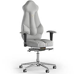 Кресло KULIK SYSTEM IMPERIAL Экокожа с подголовником со строчкой Белый 7-901-WS-MC-0202 ZZ, КОД: 1685919
