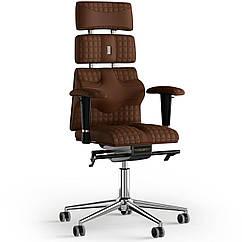 Кресло KULIK SYSTEM PYRAMID Экокожа с подголовником со строчкой Коричневый 9-901-WS-MC-0214 ZZ, КОД: 1686012