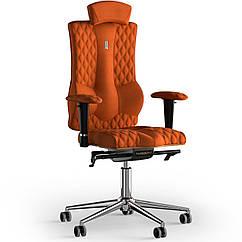 Кресло KULIK SYSTEM ELEGANCE Ткань с подголовником со строчкой Оранжевый 10-901-WS-MC-0510 ZZ, КОД: 1689454