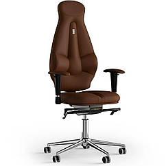 Кресло KULIK SYSTEM GALAXY Экокожа с подголовником без строчки Коричневый 11-901-BS-MC-0214 ZZ, КОД: 1689516