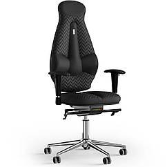Кресло KULIK SYSTEM GALAXY Экокожа с подголовником со строчкой Черный 11-901-WS-MC-0201 ZZ, КОД: 1689547