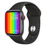 Розумні годинник Смарт годинник Smart Watch W26 ЗА ZK16 з сенсорним екраном і пульсометром чорні + подарунок, фото 2