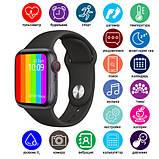 Розумні годинник Смарт годинник Smart Watch W26 ЗА ZK16 з сенсорним екраном і пульсометром чорні + подарунок, фото 3