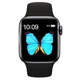Розумні годинник Смарт годинник Smart Watch W26 ЗА ZK16 з сенсорним екраном і пульсометром чорні + подарунок, фото 6