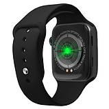 Розумні годинник Смарт годинник Smart Watch W26 ЗА ZK16 з сенсорним екраном і пульсометром чорні + подарунок, фото 7