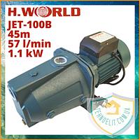 Самовсмоктуючий побутової водяний насос для дому для насосної станції для води H. WORLD JET-100B