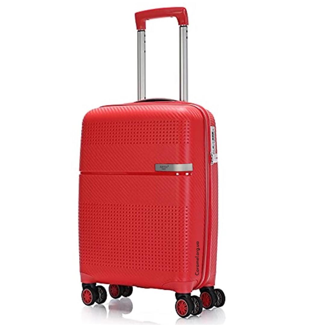Валіза поліпропіленовий на 4х колесах великий L червоний   30х77х52 см   4.500 кг   116 л   AIRTEX 635