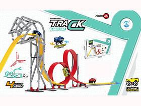 Трек магнітний - незвичайний крутий дитячий автотрек для машинок, 275 деталі.