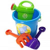 Набор для песочницы, игрушки для игр с Песком (Голубой)