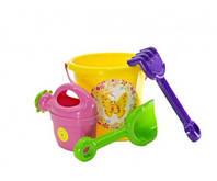 Набор для песочницы, игрушки для игр с Песком (Желтый)