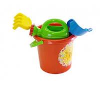 Набор для песочницы, игрушки для игр с Песком (Оранжевый)