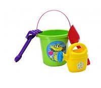 Набор для песочницы, игрушки для игр с Песком с ведерком (Салатовый)