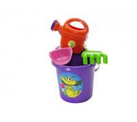 Набор для песочницы, игрушки для игр с Песком с ведерком (Фиолетовый)