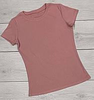 Розовая летняя футболка Женская трикотажная одежда ТМ Exclusive.