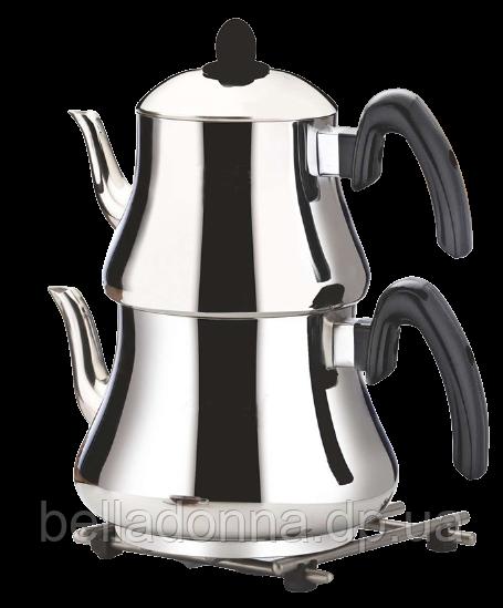 Двоярусний чайник турецький King Mevlana Mini Boy (чайник 1,2 л + заварник 0,8 л)