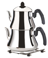 Двоярусний чайник турецький King Mevlana Mini Boy (чайник 1,2 л + заварник 0,8 л), фото 1