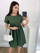 Нарядное котоновое платье с завышенной талией, короткий рукав, фото 2